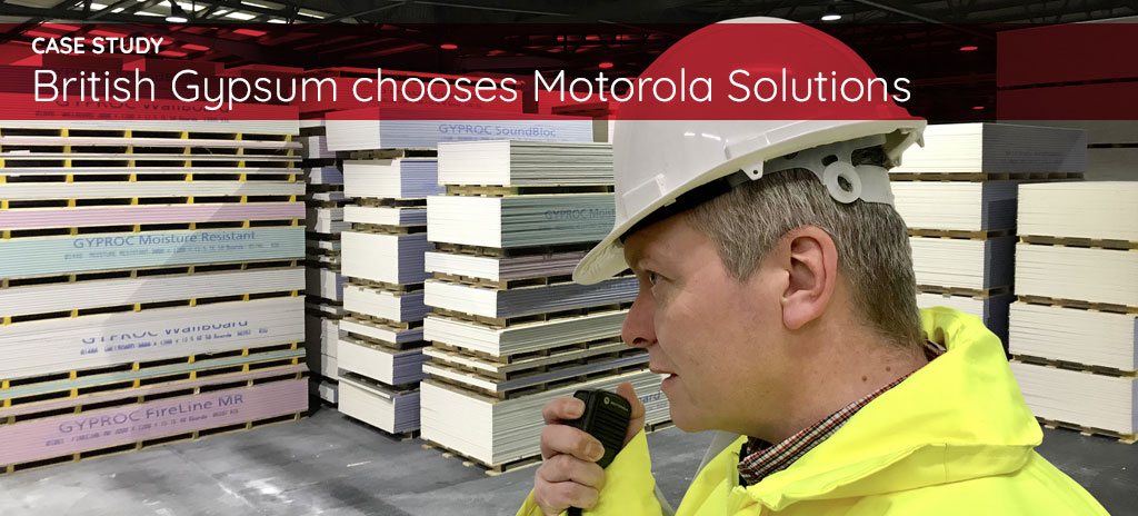 Man on Motorola Solutions radio