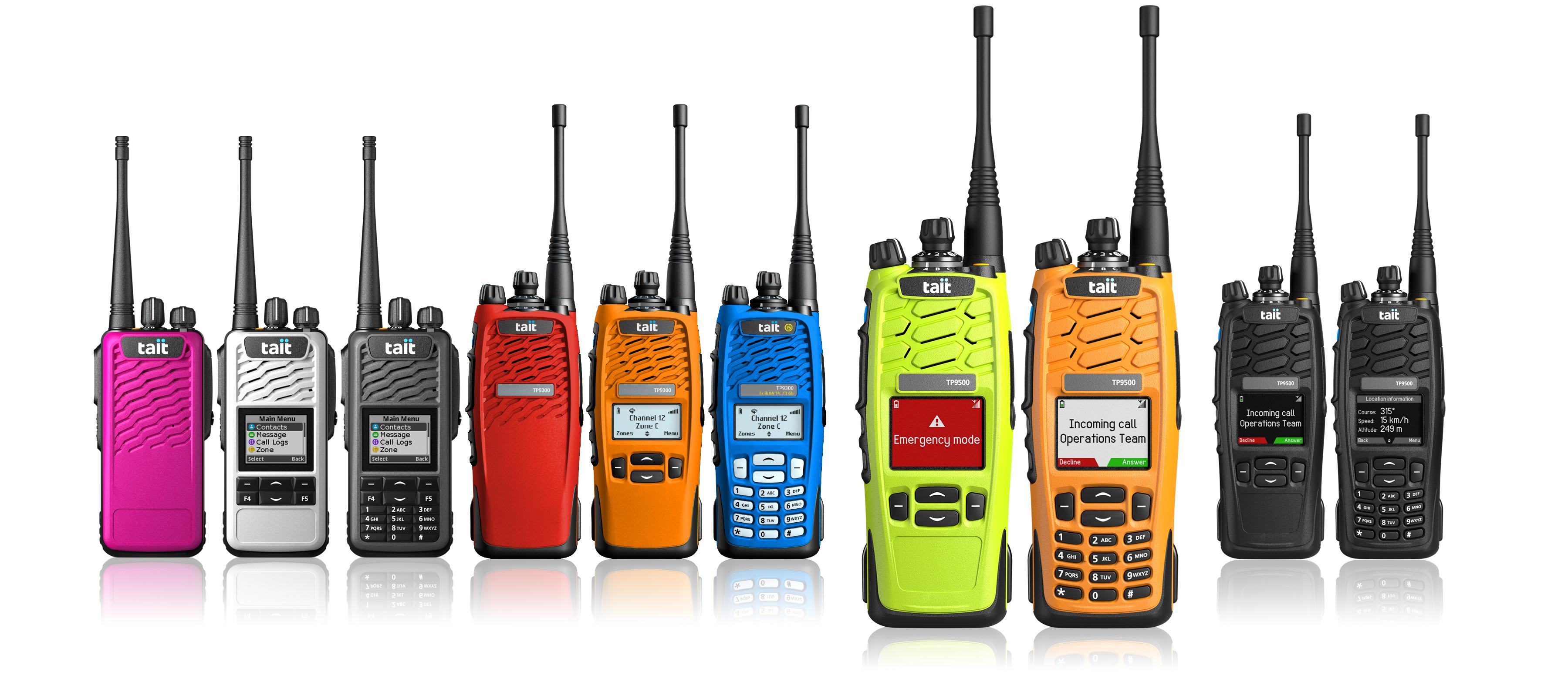 Tait coloured radios